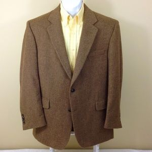 Jos A Bank Sport Coat Brown Camel Hair 2-Button 43